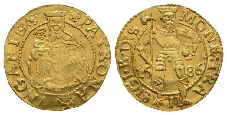 World Coins - Transylvania - Sigismund Bathory - 1586 - Gold Ducat