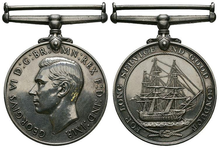 British Military Medals - George VI - Royal Navy - LSGC Medal (PO W Iddon, HMS Mercury)
