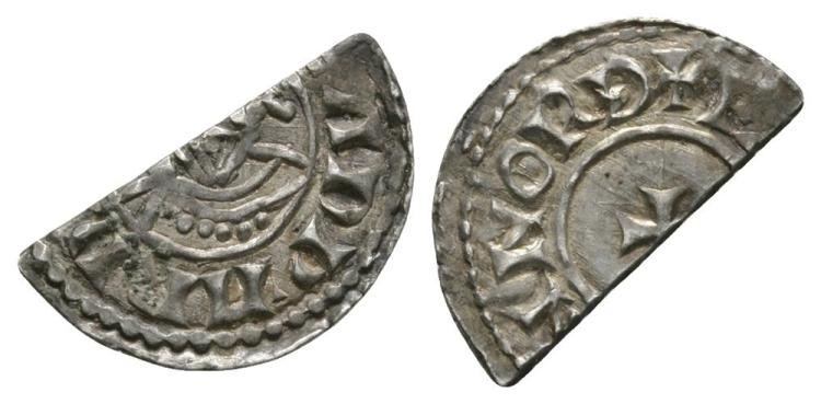 Anglo-Saxon Coins - Edward the Confessor - Norwich / Eadwine - Facing Bust Cut Halfpenny