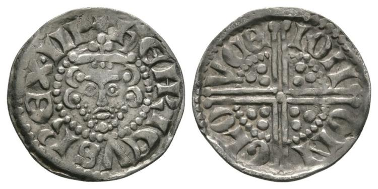 English Medieval Coins - Henry III - Gloucester / Ion - Voided Long Cross Penny