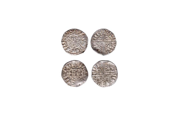 English Medieval Coins - Henry III - London / Nicole - Long Cross Pennies [2]