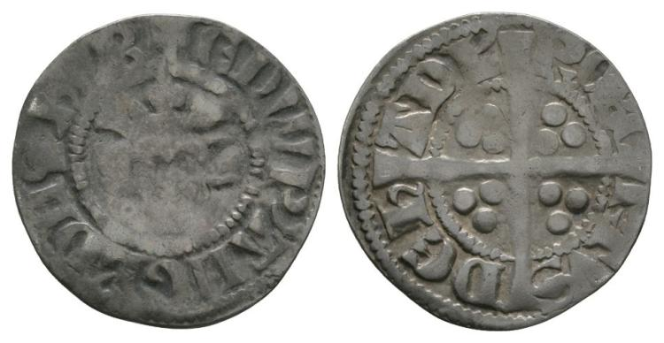 English Medieval Coins - Edward I - Bury St Edmunds - Robert de Hadelie - Long Cross Penny