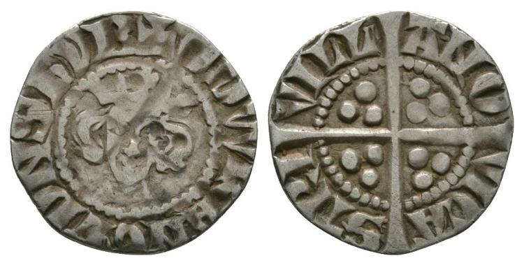 English Medieval Coins - Edward I - Newcastle upon Tyne - Long Cross Penny