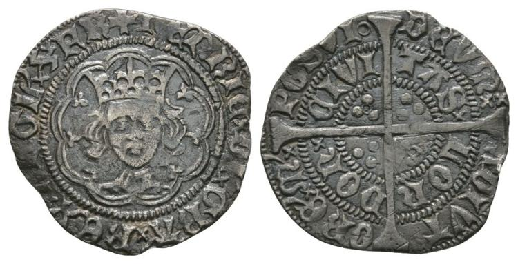 English Medieval Coins - Henry VI - London - Annulet Halfgroat