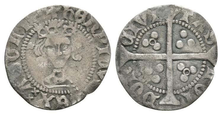 English Medieval Coins - Henry VI - London - Annulet Penny