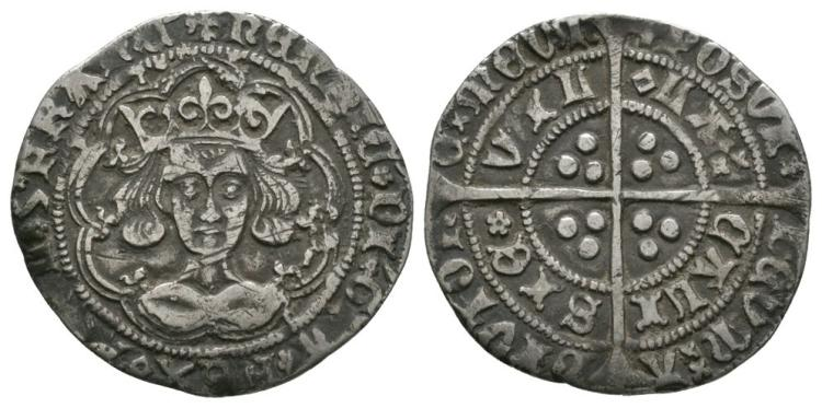 English Medieval Coins - Henry VI - Calais - Rosette Mascle Groat