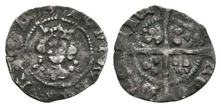 English Medieval Coins - Henry VI - London - Trefoil Halfpenny