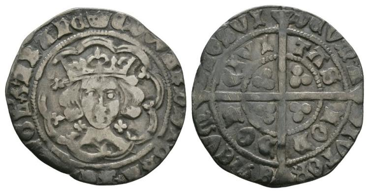 English Medieval Coins - Edward IV - London - Groat