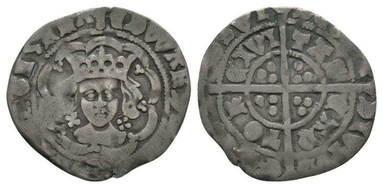 English Medieval Coins - Edward IV - Canterbury - Halfgroat.