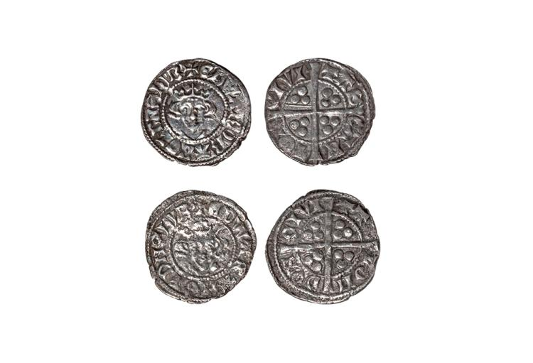 English Medieval Coins - Edward I - Canterbury and London - Long Cross Pennies [2]