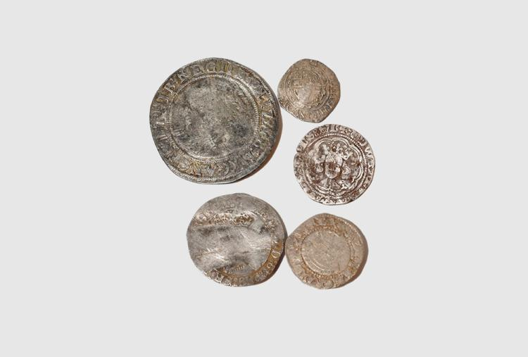 English Medieval Coins - Edward III to Charles I - Mixed Issues Group [5]