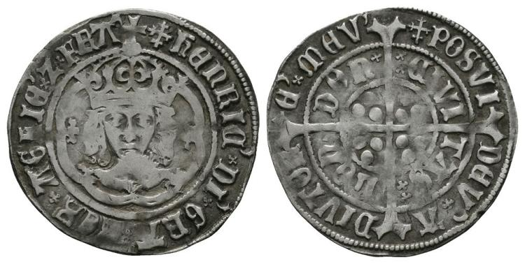 English Tudor Coins - Henry VII - Facing Bust Variant Groat