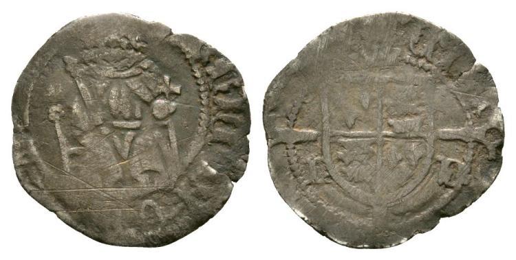 English Tudor Coins - Henry VII - Durham - Sovereign Penny