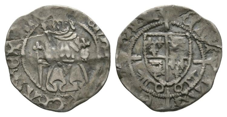 English Tudor Coins - Henry VII - York - Sovereign Penny