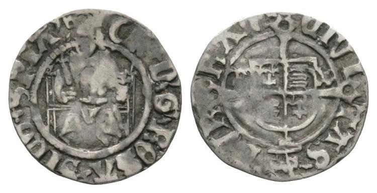 English Tudor Coins - Henry VIII - Durham - Sovereign Penny