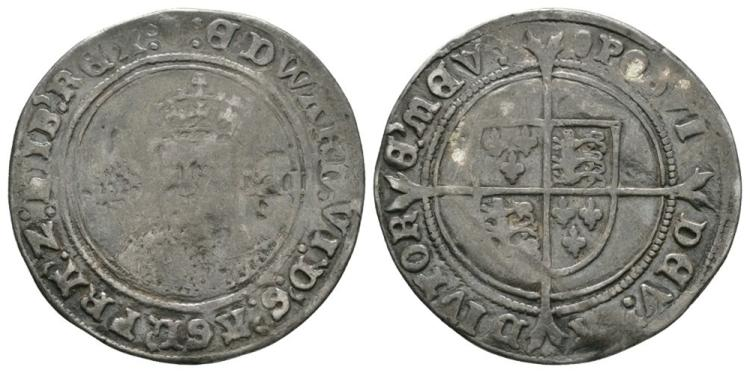 English Tudor Coins - Edward VI - Fine Shilling