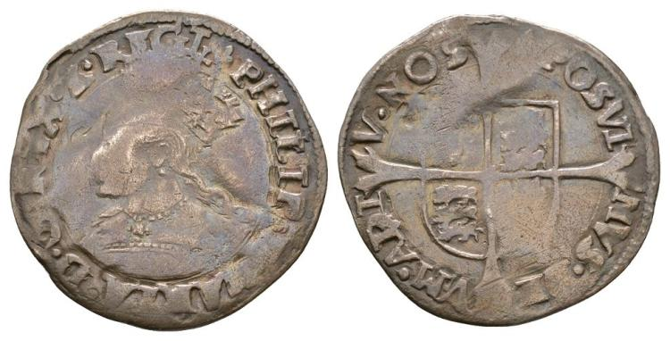 English Tudor Coins - Philip and Mary - Groat
