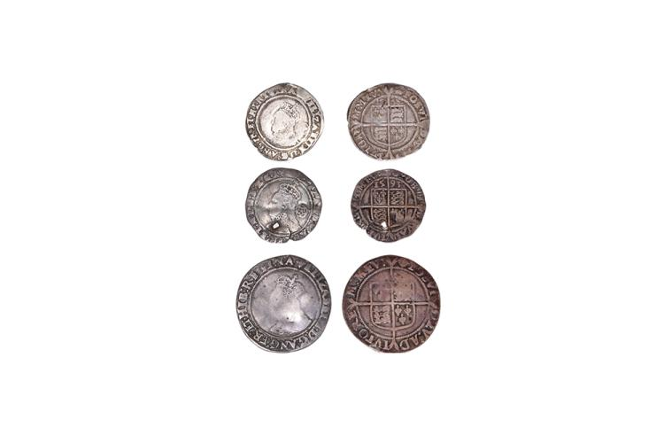 English Tudor Coins - Elizabeth I - Shilling and Sixpences [3]
