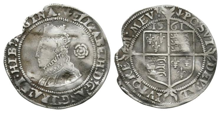 English Tudor Coins - Elizabeth I - 1561 - Threepence