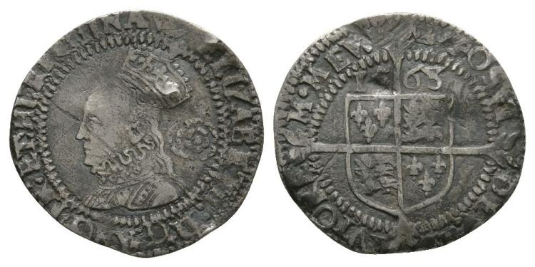 English Tudor Coins - Elizabeth I - 1568 - Threepence