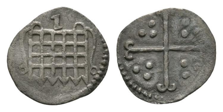 English Tudor Coins - Elizabeth I - 1601 - Halfpenny