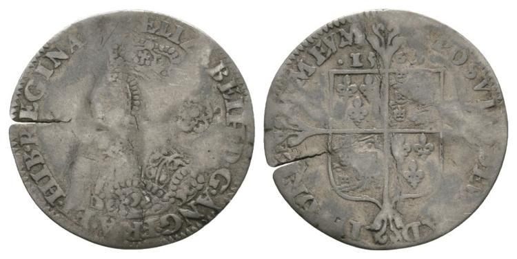 English Tudor Coins - Elizabeth I - 1562 - Milled Threepence