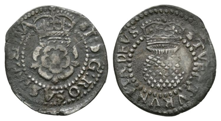English Stuart Coins - James I - Thistle Halfgroat