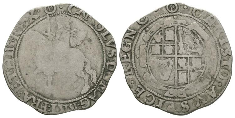 English Stuart Coins - Charles I - Tower under Parliament - Halfcrown