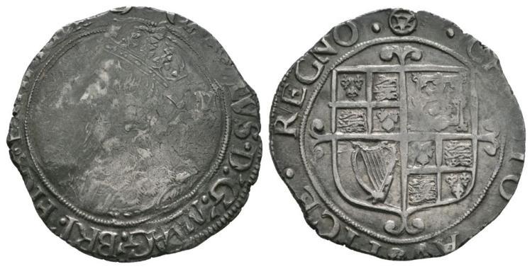 English Stuart Coins - Charles I - Tower - Shilling