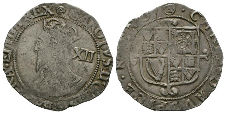 English Stuart Coins - Charles I - Tower - Shilling