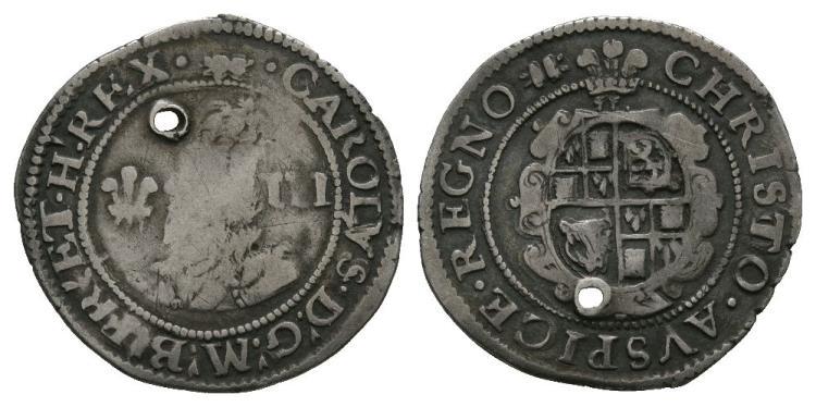 English Stuart Coins - Charles I - Aberystwyth - Threepence