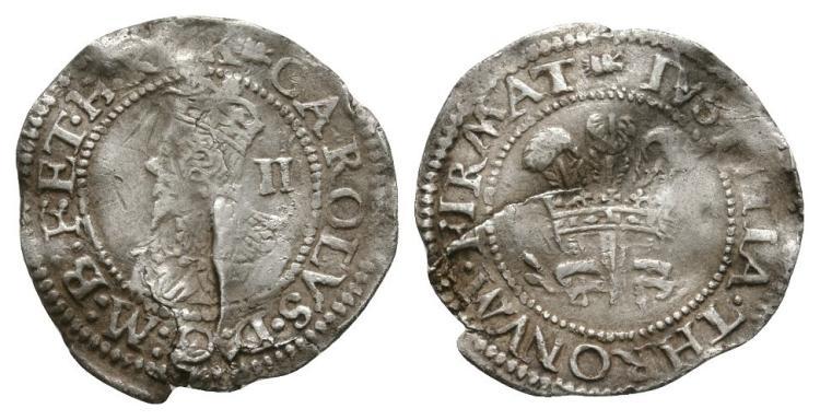 English Stuart Coins - Charles I - Aberystwyth - Halfgroat