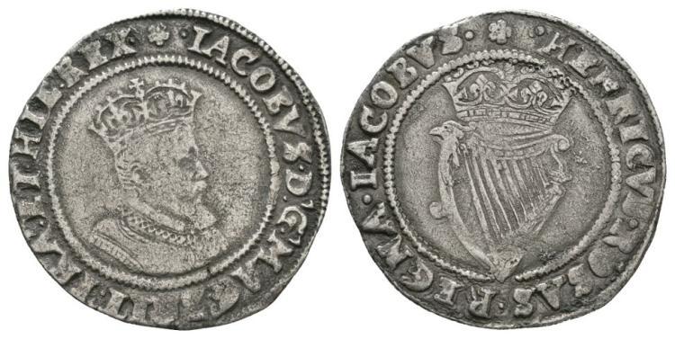 World Coins - Ireland - James I - Shilling