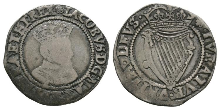 World Coins - Ireland - James I - Sixpence