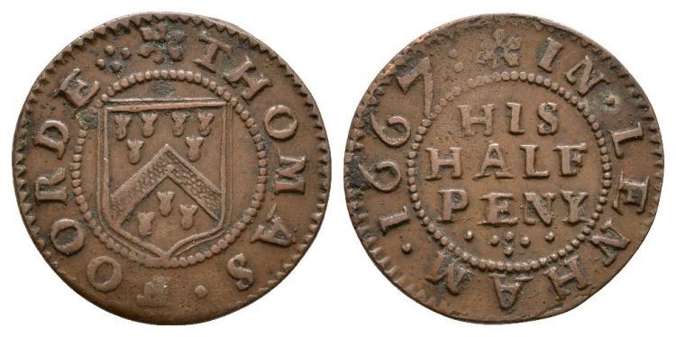 English Tokens - 17th Century - Kent - Lenham - Thomas Foord - Token Halfpenny