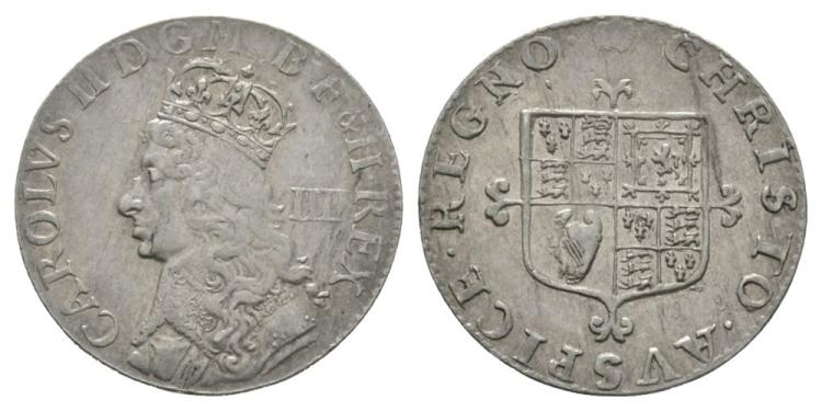 English Milled Coins - Charles II - Undated Groat