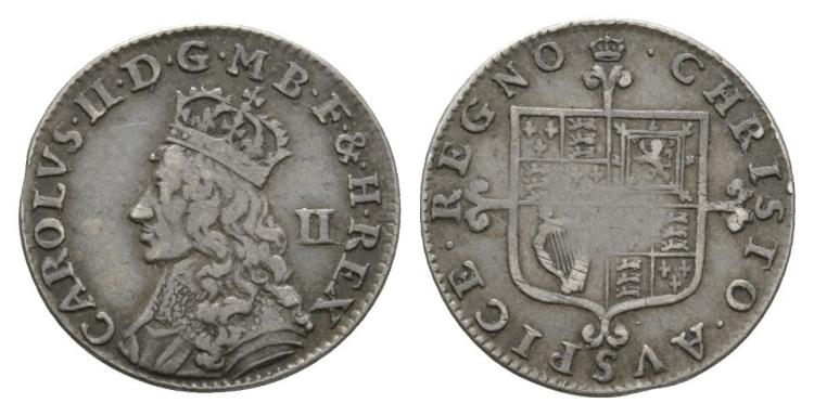 English Milled Coins - Charles II - Undated Halfgroat