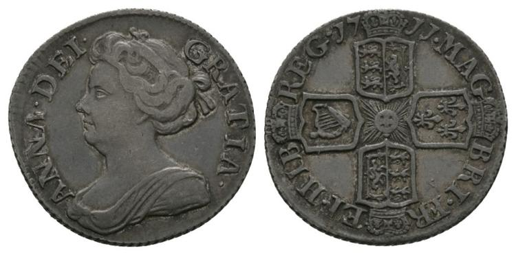 English Milled Coins - Anne - 1711 - Sixpence