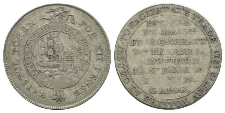 English Tokens - 19th Century - Bristol - 1811 - Token Shilling