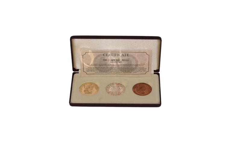 English Milled Coins - 'George III' - '1797' - Cased Commemorative 'Cartwheel Penny' Set