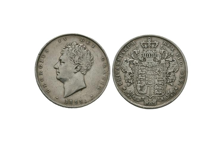 English Milled Coins - George IV - 1825 - Halfcrown