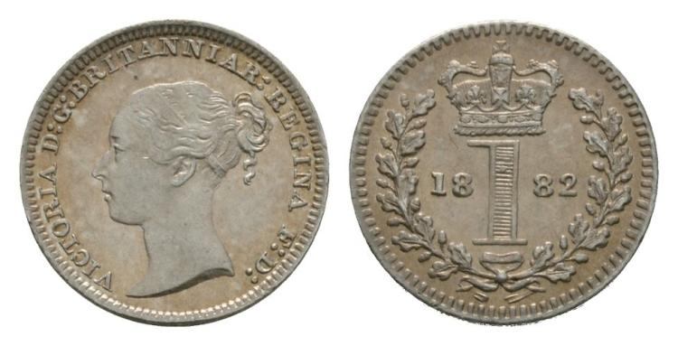 English Milled Coins - Victoria - 1882 - Maundy Penny