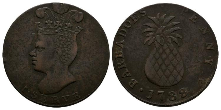 World Coins - Barbados - 1788 - Penny