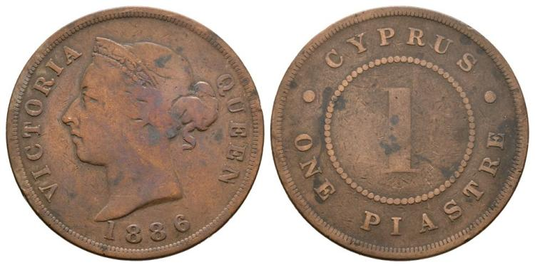 World Coins - Cyprus - 1886 - 1 Piastre