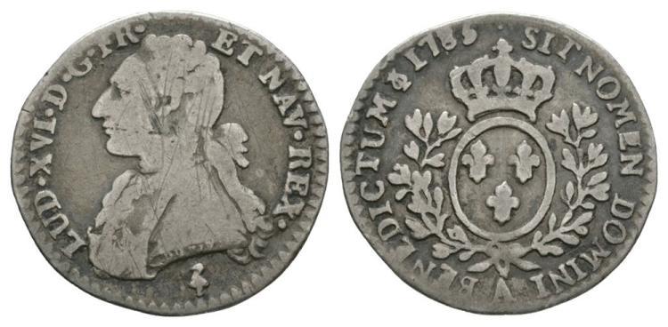 World Coins - France - 1785 A - 12 Sols (1/10 Ecu)