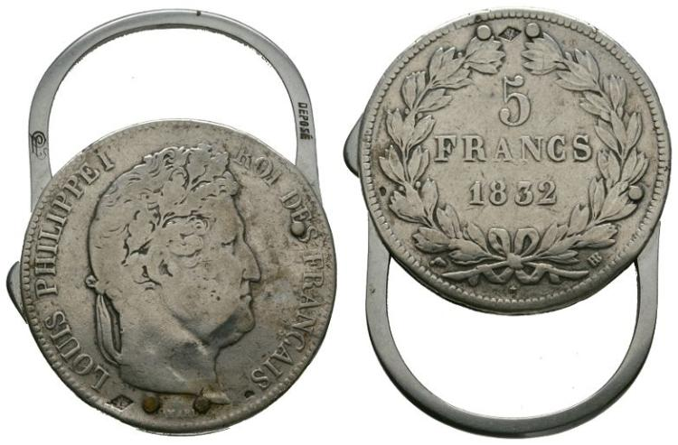 World Coins - France - 1832 - 5 Francs Keyring