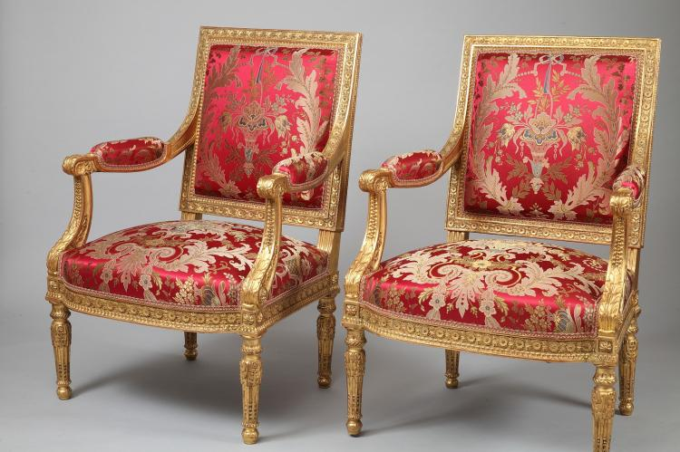 A G. Jacob Style 19th Century Gilded Wood Louis XVI Style Salon Set