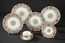 A Porcelain Dining Set with a