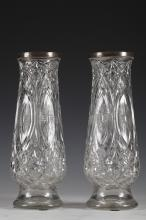 A Pair of Baccarat Crystal Vases