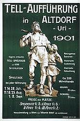 Poster: Tell-Aufführung in Altdorf